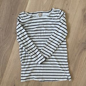 J CREW FACTORY STRIPED BOATNECK TEE
